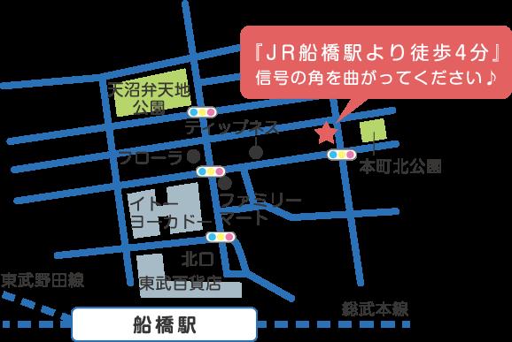 JR船橋駅より徒歩4分